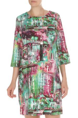 Платье с кулоном Exclusive. Цвет: зеленый