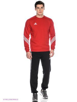Спортивный костюм Adidas. Цвет: черный, красный