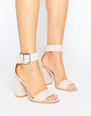 Raid Розовые сандалии на небольшом каблуке Marina. Цвет: розовый