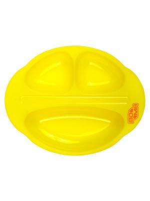 Тарелочка трёхсекционная детская 1 шт. (ПП) 6+ ПОМА. Цвет: желтый