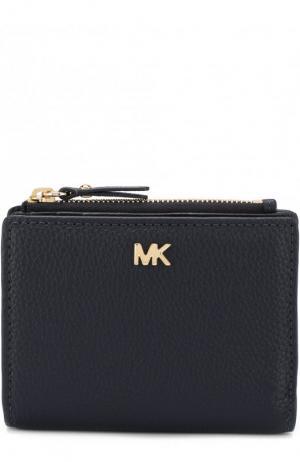 Кожаный кошелек MICHAEL Kors. Цвет: темно-синий