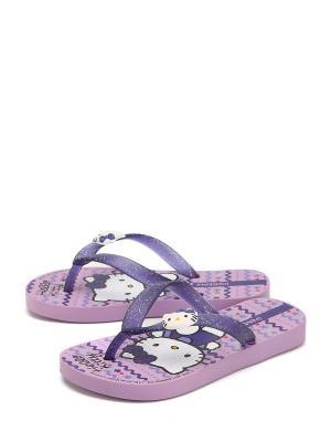 Сабо Hello Kitty. Цвет: фиолетовый