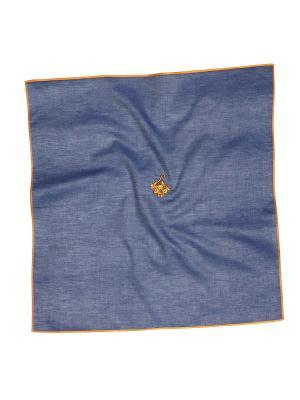Платок 100% х/б 50*50 Passigatti. Цвет: темно-синий