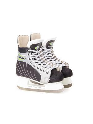 Коньки хоккейные Light Larsen. Цвет: черный, серебристый, белый