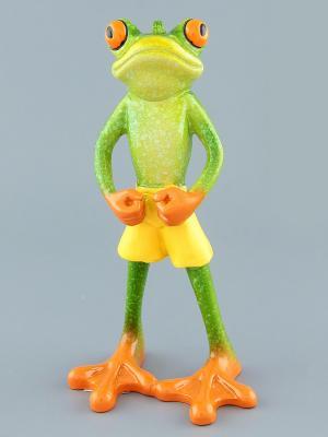 Фигурка  Лягушка - спортсмен Elan Gallery. Цвет: зеленый, оранжевый, желтый