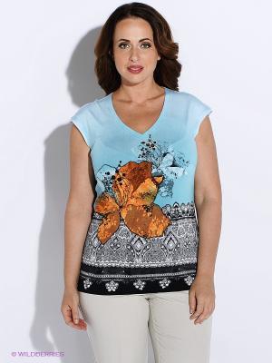 Блузка BALSAKO. Цвет: голубой