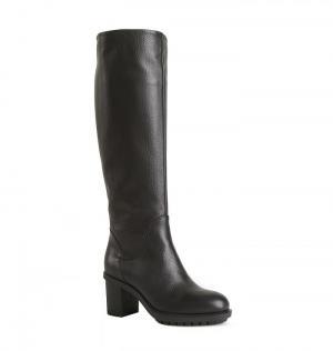 Кожаные зимние черные сапоги от бренда Angelo Giannini