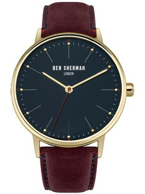 Часы Ben Sherman. Цвет: темно-бордовый