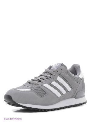 Кроссовки ZX 700 Adidas. Цвет: серый, белый