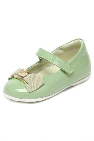 Туфли MOSCHINO BABY KID TEEN. Цвет: зеленый
