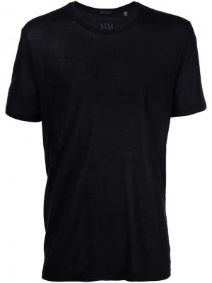 Трикотажная футболка с круглым вырезом Atm Anthony Thomas Melillo. Цвет: чёрный