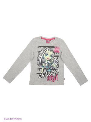 Лонгсливы Monster High. Цвет: серый меланж