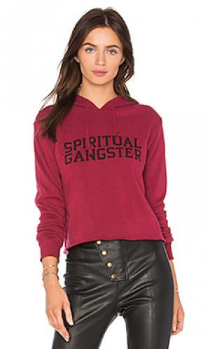 Укороченное худи varsity Spiritual Gangster. Цвет: красный