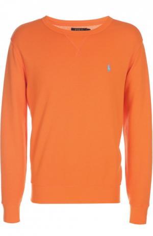 Вязаный свитер Polo Ralph Lauren. Цвет: оранжевый
