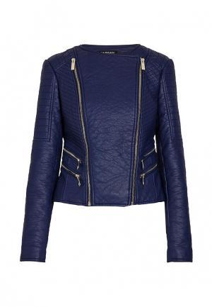 Куртка кожаная Morgan. Цвет: синий