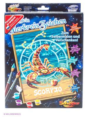 Знаки Зодиака Скорпион, 18*24 см, Schipper. Цвет: бирюзовый, бежевый
