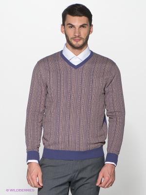 Пуловер Alfred Muller. Цвет: фиолетовый, бежевый