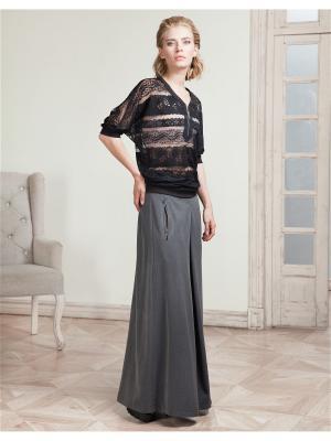Блузка LO. Цвет: черный