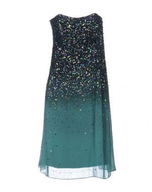 Платье до колена LA KORE. Цвет: цвет морской волны