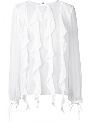 Шелковая блузка Enlighten Thomas Wylde. Цвет: белый