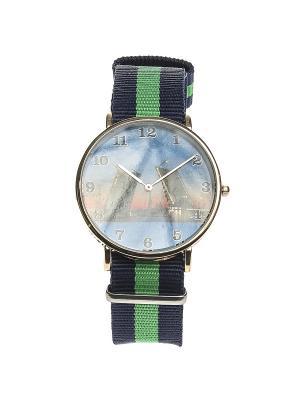 Часы Migura. Цвет: синий, зеленый, золотистый