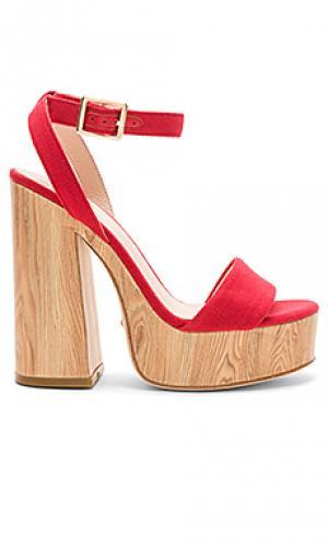 Туфли на платформе shayla RAYE. Цвет: красный