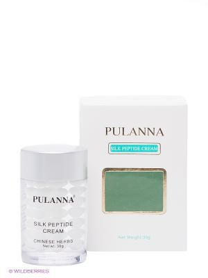 Шелковый крем -Silk Peptide Cream, 30 г PULANNA. Цвет: прозрачный, белый