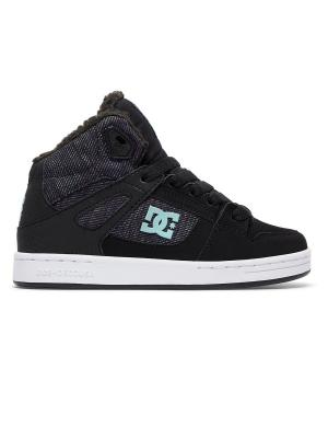 Сникеры DC Shoes. Цвет: бирюзовый, серый меланж, сиреневый