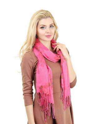 Палантин Migura. Цвет: розовый, коричневый, красный