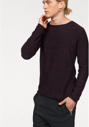 Пуловер JOHN DEVIN. Цвет: молочно-белый меланжевый, черный/меланжевый