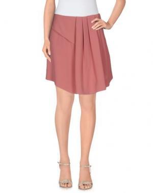 Мини-юбка ANNARITA N.. Цвет: пастельно-розовый
