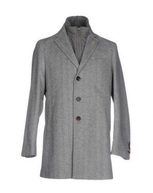 Пальто PAOLONI. Цвет: серый