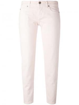 Укороченные облегающие джинсы Aspesi. Цвет: розовый и фиолетовый