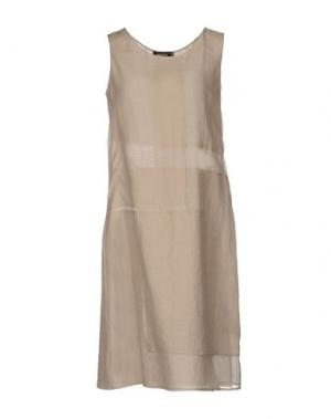 Платье до колена CIVIDINI. Цвет: голубиный серый