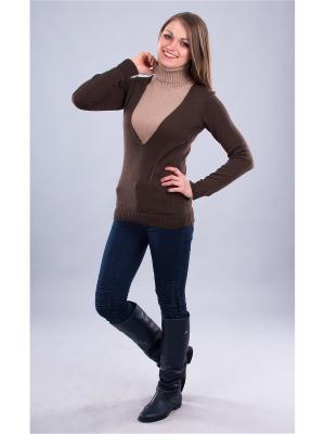 Пуловер Мирося. Цвет: коричневый, бежевый