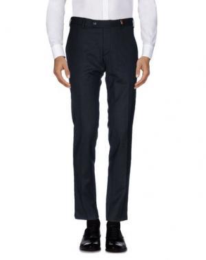 Повседневные брюки GIO ZUBON. Цвет: стальной серый