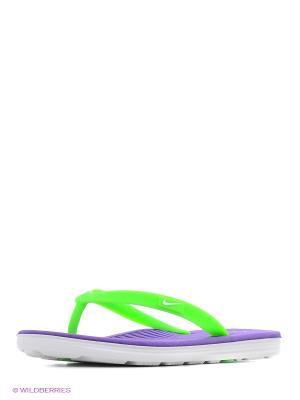 Шлепанцы Girls Flip-Flop Solarsoft 2 (GS/PS) Nike. Цвет: фиолетовый