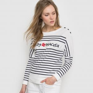 Пуловер в полоску - , LADIES KNITTED SWEATER MOLLY BRACKEN. Цвет: в полоску черный/белый