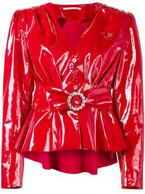 Куртка с поясом Alessandra Rich. Цвет: красный
