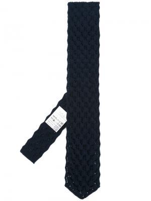 Плетеный галстук Gabriele Pasini. Цвет: синий