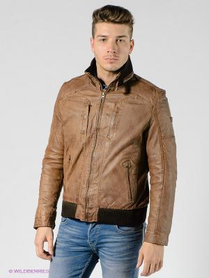 Куртка Mauritius. Цвет: светло-коричневый