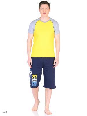 Футболка спортивная t-sod. Цвет: желтый