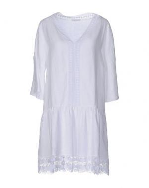 Короткое платье PUROTATTO. Цвет: белый