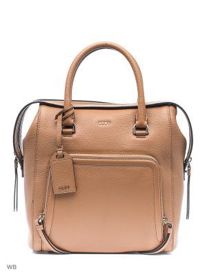 Сумка DKNY. Цвет: светло-коричневый
