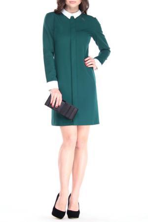 Платье MAURINI. Цвет: темно-изумрудный, молочный