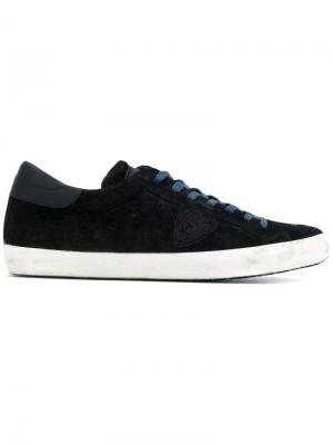 Кеды на шнуровке Philippe Model. Цвет: синий