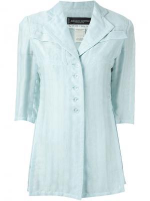 Пиджак свободного кроя Jean Louis Scherrer Vintage. Цвет: синий