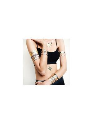 Временная переводная татуировка Афина МнеТату. Цвет: золотистый