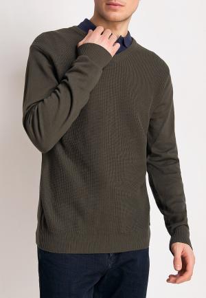 Пуловер Finn Flare. Цвет: хаки