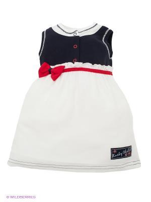 Платье Lucky Child. Цвет: белый, темно-синий